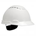 3M H-701V Vented White 4-Point Ratchet Suspension Hard Hat
