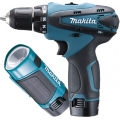 MAKITA 10.8V LI-ION 10MM HAMMER DRIVER DRILL W/TORCH, HP330DWLE
